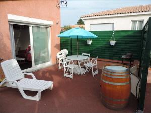 Location de vacances en Languedoc-Roussillon - La terrasse